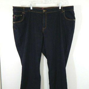 dark blue WOMAN WITHIN jeans bootcut stretch 28WP